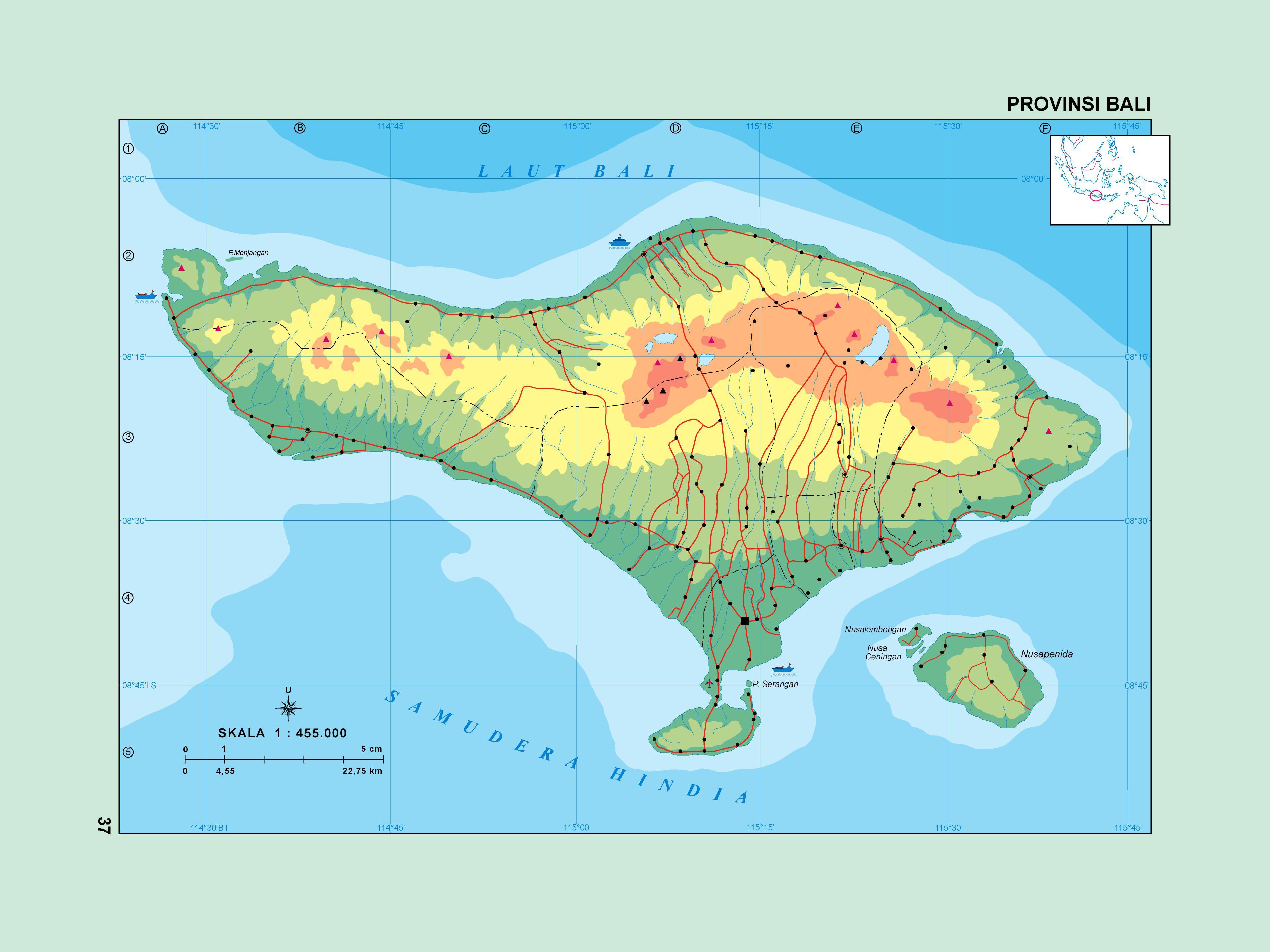 Peta Buta Indonesia Geo Webclass Gambar Kabupaten Bali