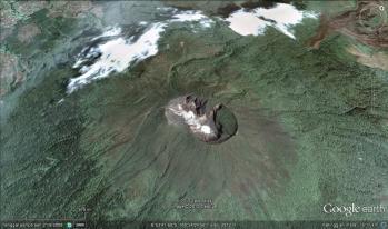 Puncak Ciremai dari Google Earth