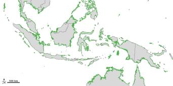 Peta Penyebaran Mangrove Indonesia